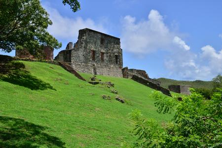 martinique: Martinique, the picturesque Dubus castle ruin in West Indies