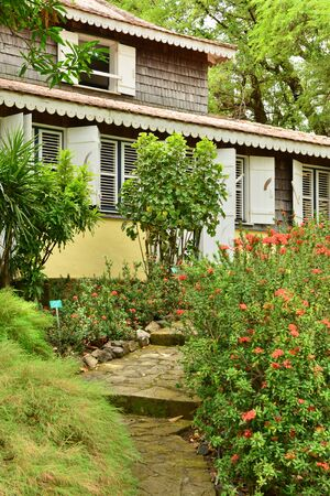 habitation: Martinique, the picturesque Habitation Clement in Le Francois in West Indies Stock Photo