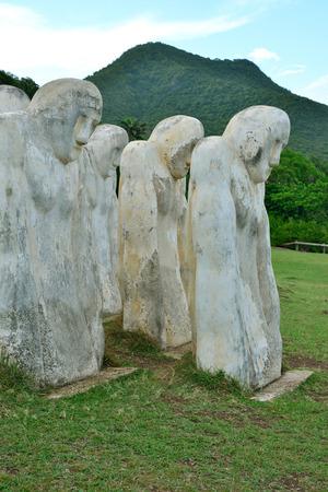 esclavo: Martinica, monumento al esclavo en Le Diamant en West Indies
