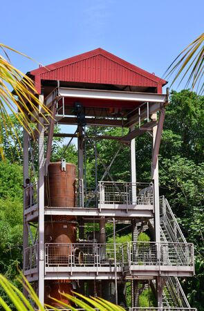 indies: Martinique, the picturesque distillery JM in Macouba in West Indies Editorial