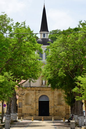 indies: Martinique, the picturesque church of Sainte Anne in West Indies