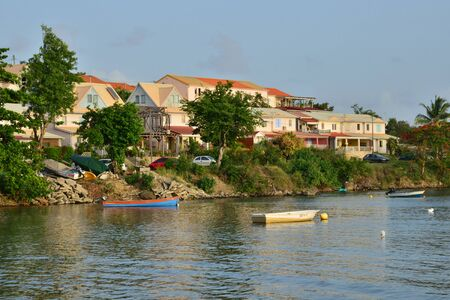 indies: Martinique, the picturesque seaside of Trois Rivieres in West Indies Editorial