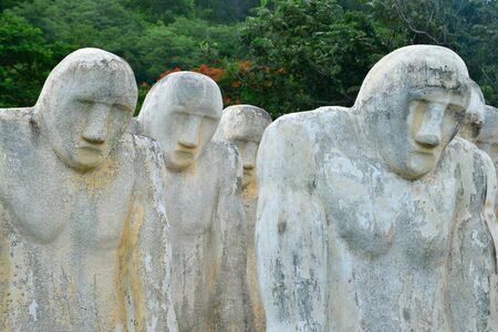 Martinique,slave memorial in Le Diamant in West Indies Editorial