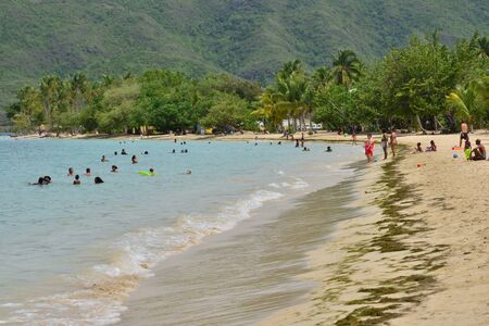 indies: Martinique, the picturesque seaside of Sainte Anne in West Indies