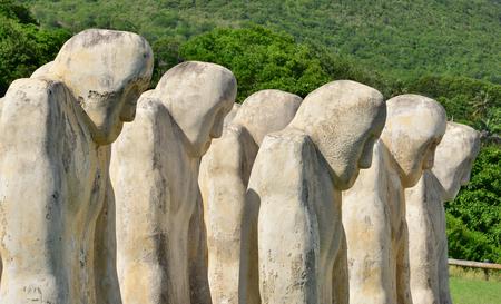 le cap: Martinica, monumento al esclavo en la ciudad de Le Diamant en West Indies