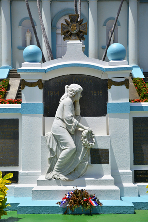 marie: Martinique, the picturesque war memorialof Sainte Marie in West Indies Stock Photo