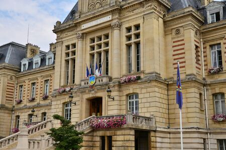 townhall: France, the picturesque city hall of Evreux in Normandie