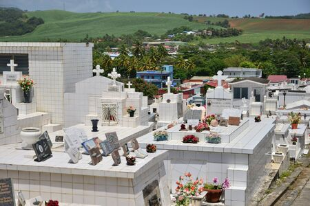 marie: Martinique, the picturesque cemetery of Sainte Marie in West Indies Editorial