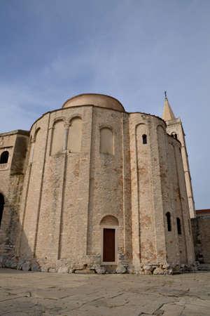 balkan: Croatia, the picturesque saint Donat church of Zadar in Balkan