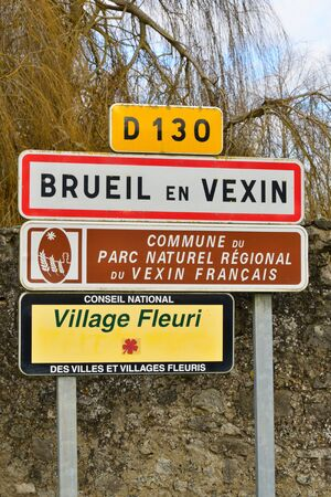 en: Ile de France, the picturesque village of Brueil en Vexin