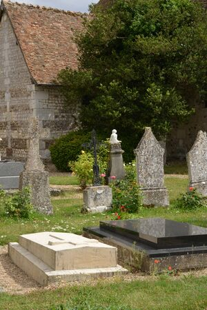 joie: France, the picturesque cemetery of Porte Joie in Normandie