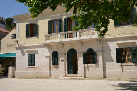 touristy: Croatia, the picturesque and touristy village of Skradin