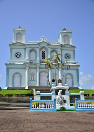 marie: Martinique, the picturesque church of Sainte Marie in West Indies Stock Photo
