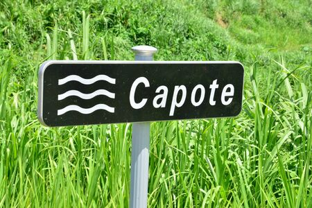 capote: Martinique, the picturesque city of Le Lorrain in West Indies Stock Photo