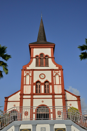 indies: Martinique, the picturesque church of Ducos in West Indies Stock Photo