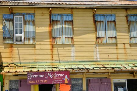 indies: Martinique, the picturesque city of Sainte Marie in West Indies Editorial
