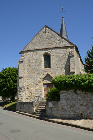 build in: Frouville, France - june 4 2015 : the saint Martin church build in middle age Stock Photo