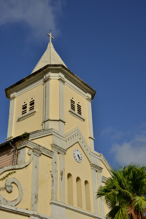 indies: Martinique, the picturesque church of Le Saint Esprit in West Indies
