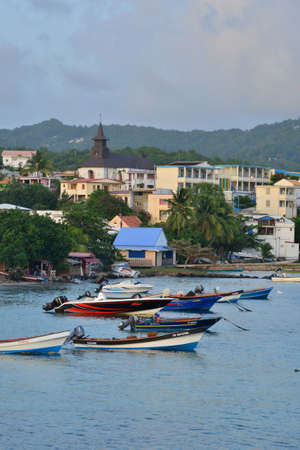 luce: Martinique, the picturesque city of Sainte Luce in West Indies Editorial