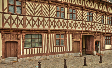 henri: Saint Valery en Caux, France - july 17 2015 : Henri 4 house Editorial