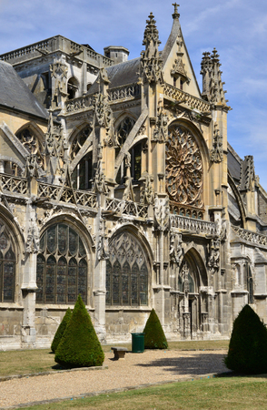 collegiate: Les Andelys, France - august 10 2015 : the collegiate church build in de 1225