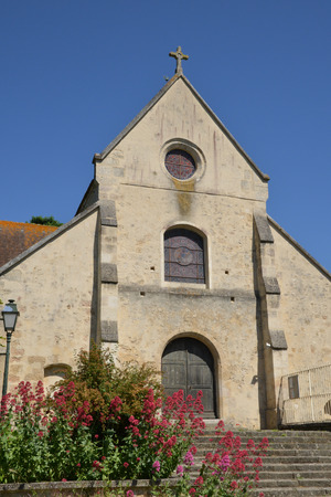 build in: Frouville, France - june 4 2015 : the saint Martin church build in middle age Editorial