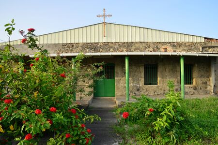 martinique: Martinique, a picturesque chapel in Trois Rivieres in West Indies