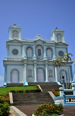 marie: Martinique, the picturesque church of Sainte Marie in West Indies Editorial