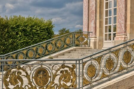 monument historical monument: Versailles, France - august 19 2015 : the Grand Trianon in the Marie Antoinette estate in the parc of Versailles Palace