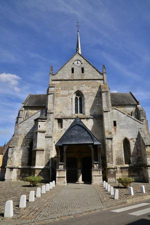 build in: Les Andelys, France - august 10 2015 : Saint Sauveur church of Petit Andelys build in 13 century