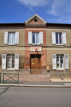 townhall: Harquency, France - august 10 2015 : the city hall in summer
