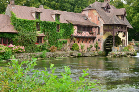 gastronomic: Fourges, France - august 13 2015 : the water mill wich is now a gastronomic restaurant Editorial