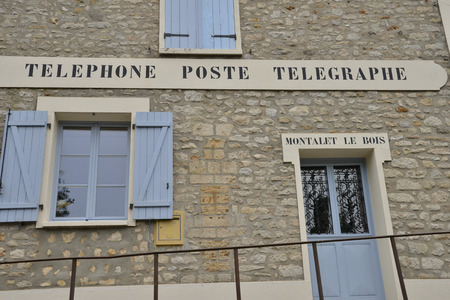 bois: Montalet le Bois, France - august 8 2015 : the post office