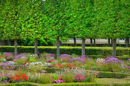 marie: Versailles, France - august 19 2015 : the Marie Antoinette estate in the parc of Versailles Palace. garden of Petit Trianon
