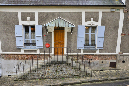 ravel: Montfort L Amaury, France - january 2 2016 : the house of Maurice Ravel. He lived here from 1921 to 1937
