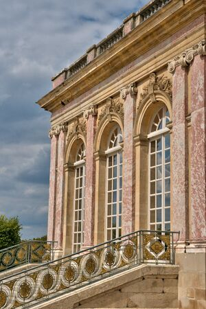 versailles: Versailles, France - august 19 2015 : the Grand Trianon in the Marie Antoinette estate in the parc of Versailles Palace
