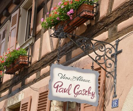 grower: Eguisheim, France - june 19 2015 : the old and picturesque village in summer. Here born the pope Leon 9 in 1002 Editorial