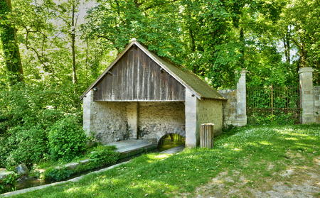 picturesque: The picturesque wash house in spring