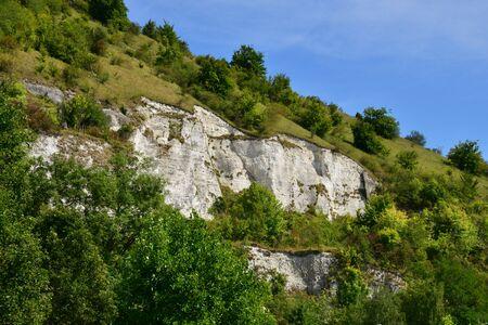 les: Les Andelys, France - Landscape and cliff in summer