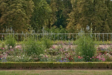 marie: Versailles, France - august 19 2015 : the Marie Antoinette estate in the parc of Versailles Palace. garden of Grand Trianon