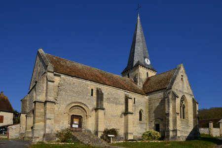 pierre: Brignancourt, France - march 14 2016 : the saint Pierre and saint Etienne church