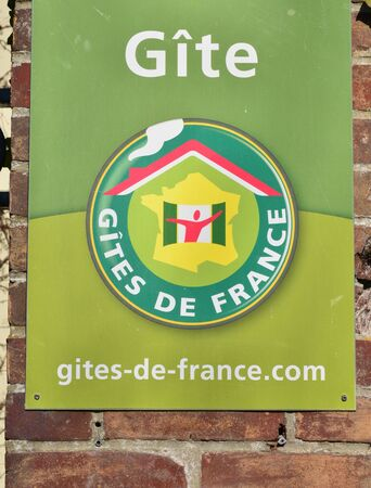 guest room: Giverny, France - february 29 2016 : guest room sign Editorial