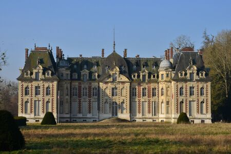 neo classical: Radepont, France - march 15 2016 : the neo classical castle Editorial