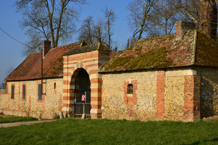 15 18: Ecouis, France - march 15 2016 : the Mussegros castle farm of 18 th century Editorial