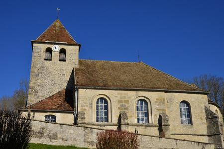 and saint: Saint Cyr en Arthies, France - february 29 2016 : the Saint Julitte church