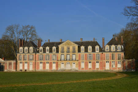 15 18: Ecouis, France - march 15 2016 : the Mussegros castle of 18 th century