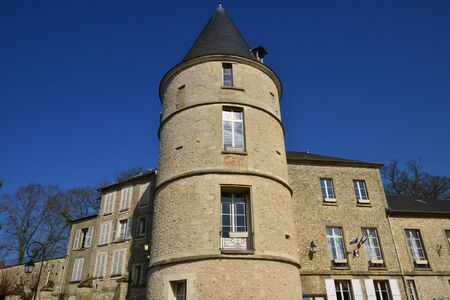 chateau: Trie Chateau, France - march 14 2016 : the old castle which is now the city hall