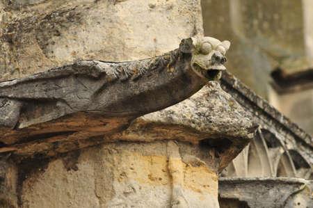 gargouille: gargouille �glise Saint Martin Banque d'images