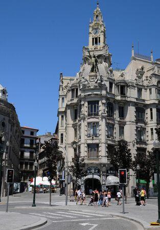 porto: Porto, Portugal - july 10 2010 : the historical city center Editorial