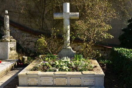 monet: Giverny, France - february 29 2016 : the Claude Monet tomb